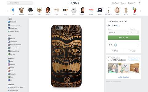 Screenshot of fancy.com - Fancy | Black Bamboo - Tiki - captured April 20, 2017