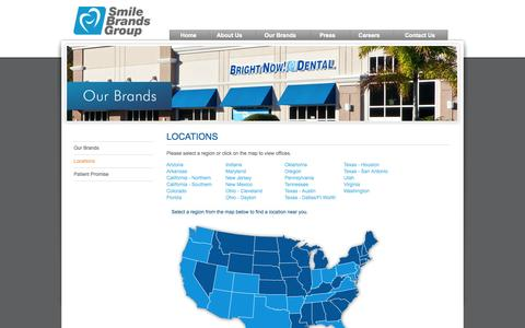 Screenshot of Locations Page smilebrands.com - Locations | Smile Brands Inc. - captured Sept. 19, 2014