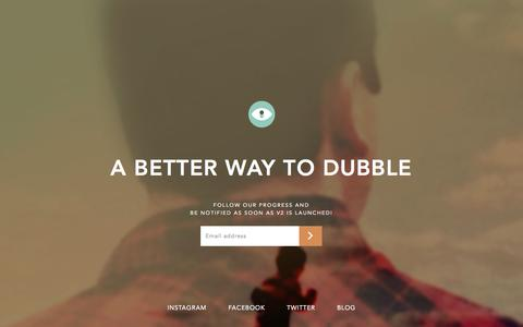 Screenshot of Home Page dubble.me - dubble v2 - captured March 19, 2016