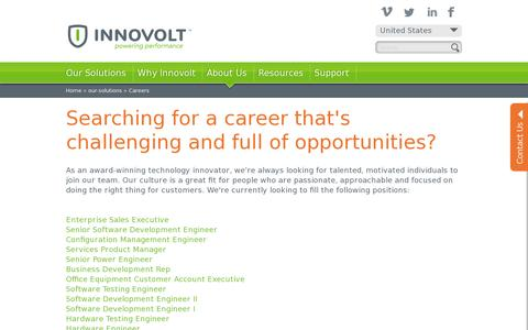 Screenshot of Jobs Page innovolt.com - Careers | Innovolt - captured July 20, 2014