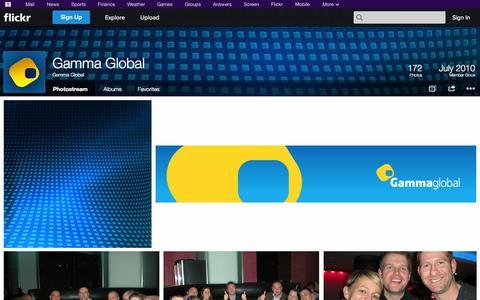 Screenshot of Flickr Page flickr.com - Flickr: Gamma Global's Photostream - captured Oct. 22, 2014