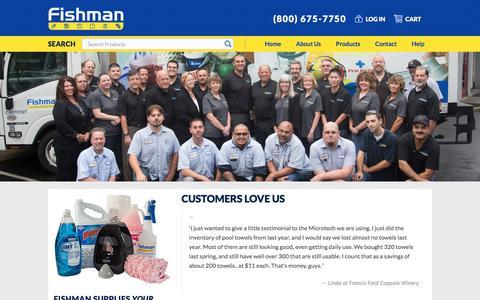 Screenshot of Testimonials Page fishmansupply.com - Customers Love Us | Fishman Supply - captured Oct. 13, 2017