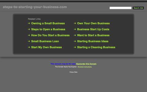 Screenshot of Home Page steps-to-starting-your-business.com - Steps-To-Starting-Your-Business.com - captured Dec. 3, 2016