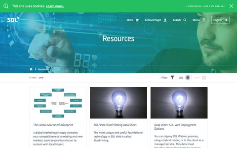 Digital Experience Resources | SDL