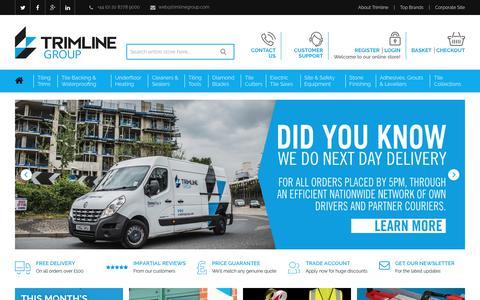 Screenshot of Home Page trimlinegroup.com - Trimline Group - captured Oct. 20, 2018