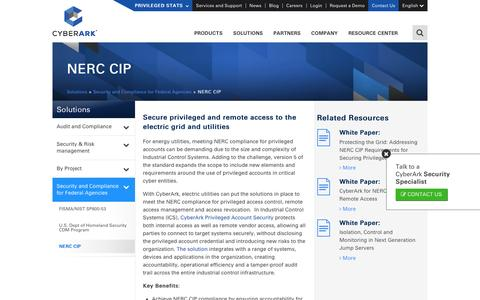 NERC CIP Compliance Solutions for Utility Companies - CyberArk