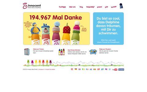 Screenshot of Home Page innocentsmoothies.ch - innocent drinks - kleine feine smoothies - captured Jan. 28, 2015
