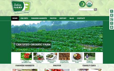 Screenshot of Home Page delvinfarms.com - Delvin Farms - Organic Farm - captured June 17, 2015