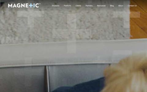 Screenshot of Home Page magnetic.com - Magnetic Platform | Marketing Solutions | Home - captured Jan. 8, 2016
