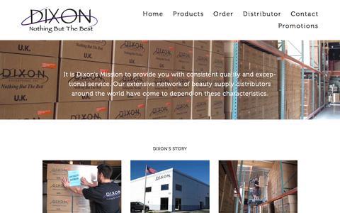 Screenshot of About Page dixonbuffers.com - About — Dixon Enterprises - captured Feb. 9, 2016