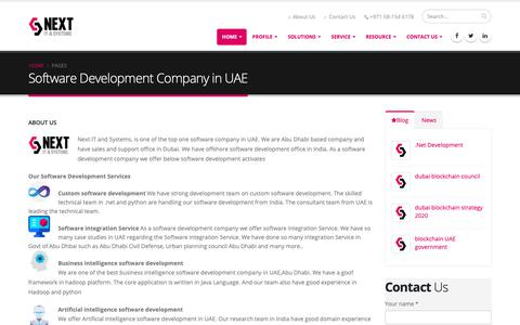 Screenshot of About Page nextuae.com - 2018: Top one Software development company in Abu Dhabi - captured Oct. 18, 2018