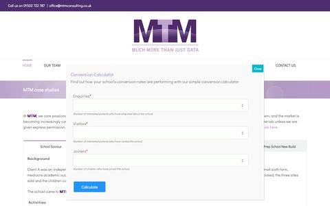 Screenshot of Case Studies Page mtmconsulting.co.uk - MTM case studies - MTM Consulting - captured Nov. 16, 2018
