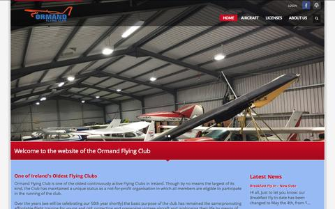 Screenshot of Home Page ormandflyingclub.ie - Ormand Flying Club - captured Oct. 11, 2015