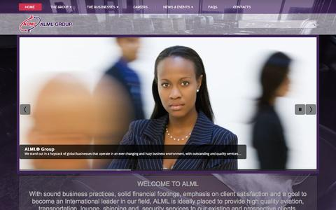 Screenshot of Home Page almlgroup.com - Home - captured Sept. 11, 2015