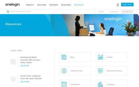 Resources - OneLogin