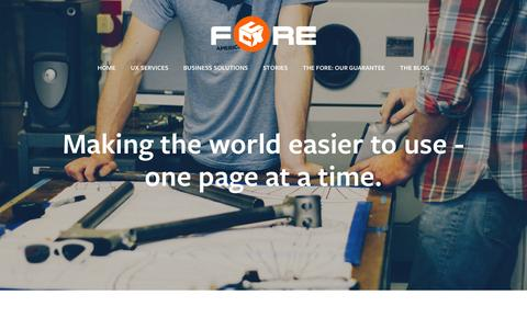 Screenshot of Team Page thefore.com.au - Our team — The Fore - captured Feb. 28, 2016