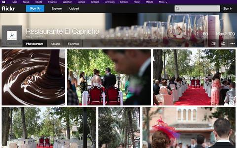 Screenshot of Flickr Page flickr.com - Flickr: ElCaprichoEventos' Photostream - captured Oct. 22, 2014