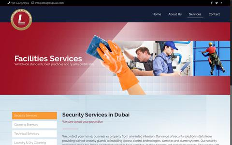 Screenshot of Services Page libragroupuae.com - Security Services in Dubai - captured Sept. 28, 2018