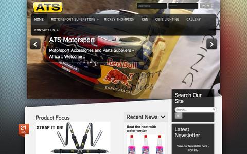 Screenshot of Home Page ats-motorsport.co.za - ATS-Motorsport :: Africa's No 1 Portal for all your Motorsport and Enthusiast Equipment :: - captured Sept. 13, 2015