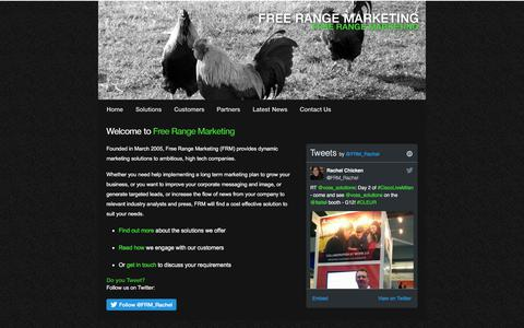 Screenshot of Home Page freerangemarketing.com - Homepage - Free Range Marketing, Cheltenham - captured June 6, 2017