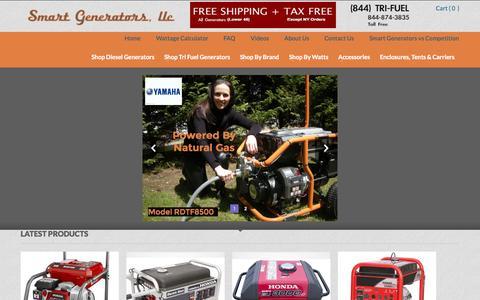 Screenshot of Home Page nysmartgenerators.com - Home » Smart Generators - captured Oct. 6, 2014
