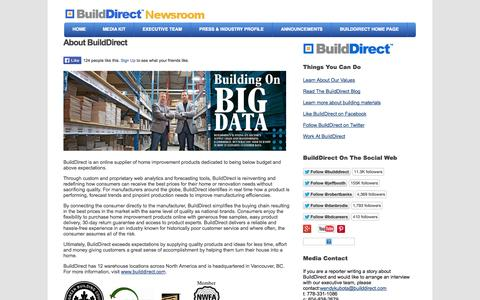 Screenshot of About Page Press Page builddirect.com captured Oct. 22, 2014