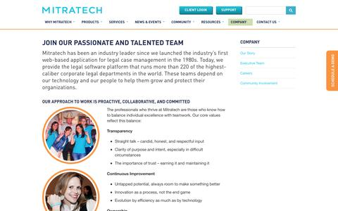 Screenshot of Jobs Page mitratech.com - Careers at Mitratech | Enterprise Legal Management Solutions - captured Oct. 2, 2014