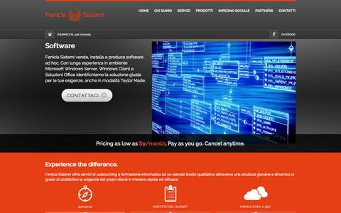 Screenshot of Home Page fenicia.it - Fenicia Sistemi - Homepage - captured Oct. 5, 2014