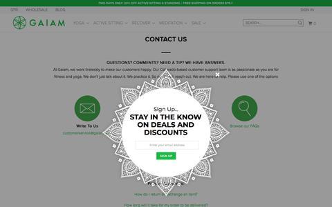 Screenshot of Contact Page gaiam.com - Contact Us - Gaiam - captured Nov. 20, 2017