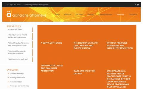 Screenshot of Blog adriaansattorneys.com - Blog – Adriaans Attorneys - captured July 13, 2018
