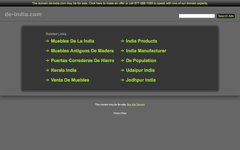 Screenshot of Home Page de-india.com - De-India.com - captured June 4, 2016