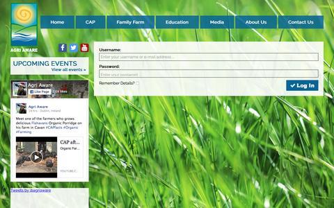 Screenshot of Login Page agriaware.ie - Members' Log In   Agri Aware - captured Dec. 24, 2015