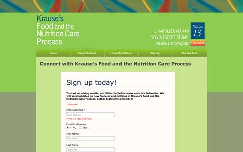 Screenshot of Signup Page krausenutrition.com - Join Our Network - captured Oct. 6, 2014