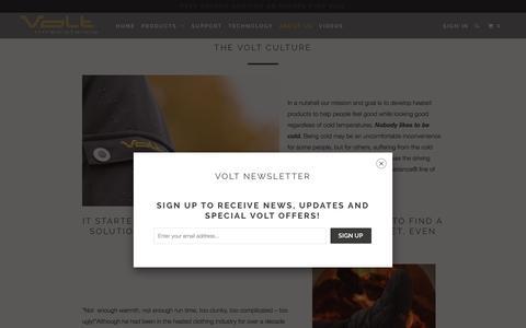 Screenshot of About Page voltheat.com - The Volt Culture - Volt Heat - captured Dec. 11, 2016