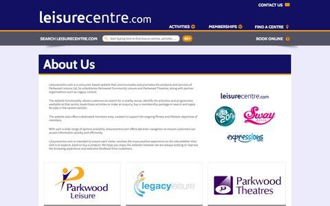 Screenshot of About Page leisurecentre.com - About Us - LeisureCentre.com - captured Oct. 22, 2014