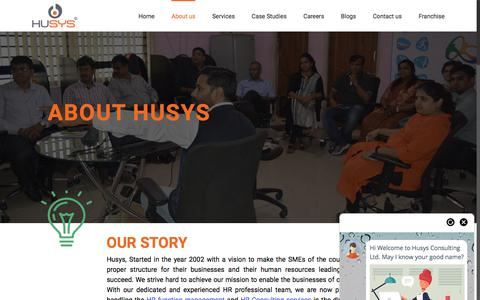 Screenshot of About Page husys.com - About Husys Consulting Ltd - captured July 10, 2018
