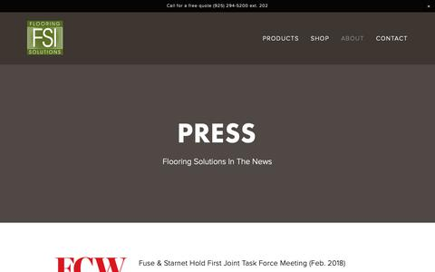 Screenshot of Press Page flooring-solutions.com - Flooring Solutions — Press - captured Oct. 10, 2018