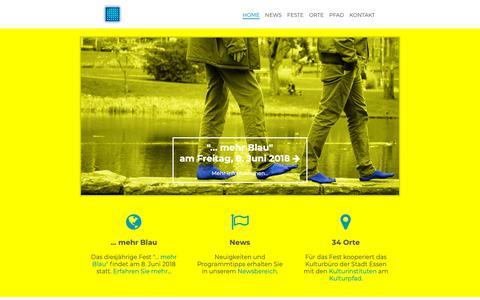 Screenshot of Home Page kulturpfadfest-essen.de - Kulturpfadfest Essen: ... mehr Blau am 8. Juni 2018 - captured Oct. 22, 2018