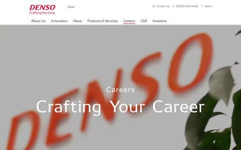 Screenshot of Jobs Page denso.com - Careers   DENSO Global Website - captured Feb. 12, 2018