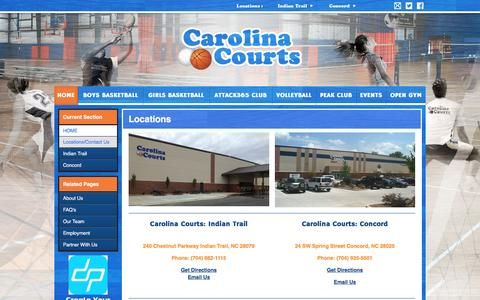 Screenshot of Locations Page carolinacourts.com - Locations - captured July 11, 2016