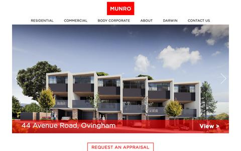 Screenshot of Home Page munropropertygroup.com.au - Munro Property Group | Real Estate Agent and Property Managers - captured Nov. 7, 2018