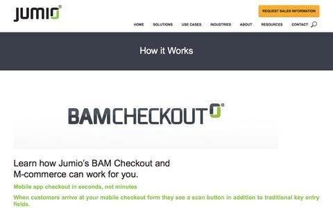 BAM Checkout - m-Commerce Optimization - Jumio.com