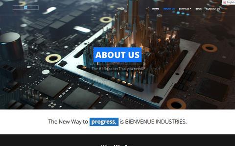 Screenshot of About Page bienvenueindustries.ca - About Us – BienvenueIndustries - captured Aug. 2, 2018