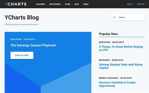 Screenshot of Blog ycharts.com - Blog - YCharts - captured Aug. 15, 2019