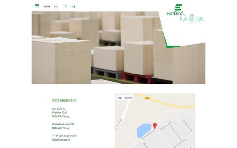 Screenshot of Contact Page vaneerd.nl - Contact - captured Aug. 18, 2016