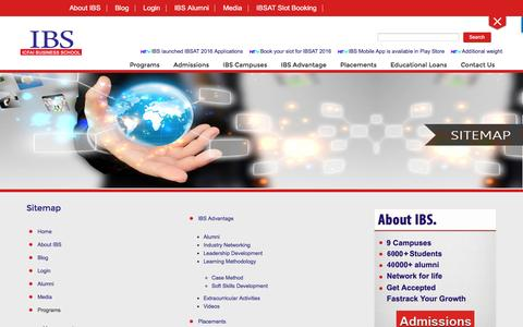 Screenshot of Site Map Page ibsindia.org - Sitemap | IBS Business School is one of the Best B School & MBA colleges in India - captured Nov. 17, 2016