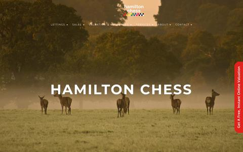 Screenshot of Home Page hamiltonchess.co.uk - Hamilton Chess (Windsor) UK – Berkshire Estate Agents - captured July 15, 2018