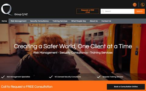 Screenshot of Home Page groupqsecurity.co.nz - Security Consultants | NZ Security Company | Group Q NZ - captured Nov. 16, 2016