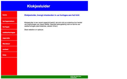 Screenshot of Home Page klokjesluider.nl - Klokjesluider - captured Sept. 30, 2014