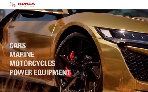 Screenshot of Home Page honda.com.au - Home | Honda Australia - captured Feb. 21, 2019